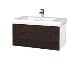 Dreja - Kúpeľňová skriňa VARIANTE SZZ 80 - N01 Bílá lesk / D08 Wenge (272050)