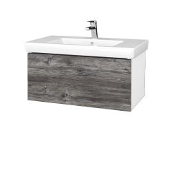 Dreja - Kúpeľňová skriňa VARIANTE SZZ 80 - N01 Bílá lesk / D10 Borovice Jackson (272074)