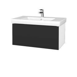Dreja - Kúpeľňová skriňa VARIANTE SZZ 80 - N01 Bílá lesk / N03 Graphite (272166)