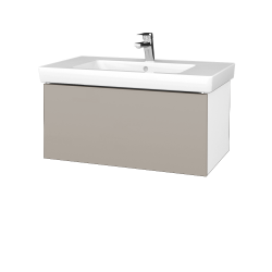 Dreja - Kúpeľňová skriňa VARIANTE SZZ 80 - N01 Bílá lesk / N07 Stone (272180)