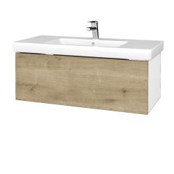 Dreja - Kúpeľňová skrinka VARIANTE SZZ 100 - N01 Bílá lesk / D09 Arlington (272531)
