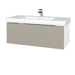 Dreja - Kúpeľňová skrinka VARIANTE SZZ 100 - N01 Bílá lesk / M05 Béžová mat (272593)