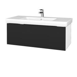 Dreja - Kúpeľňová skrinka VARIANTE SZZ 100 - N01 Bílá lesk / L03 Antracit vysoký lesk (272616)