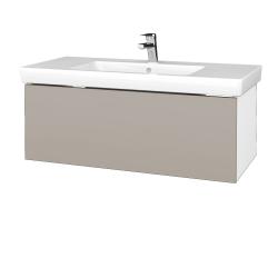 Dreja - Kúpeľňová skrinka VARIANTE SZZ 100 - N01 Bílá lesk / N07 Stone (272654)