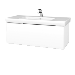 Dreja - Kúpeľňová skrinka VARIANTE SZZ 100 - N01 Bílá lesk / L01 Bílá vysoký lesk (272678)