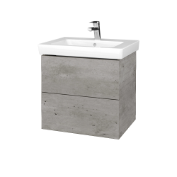 Dreja - Kúpeľňová skriňa VARIANTE SZZ2 60 - D01 Beton / D01 Beton (272739)