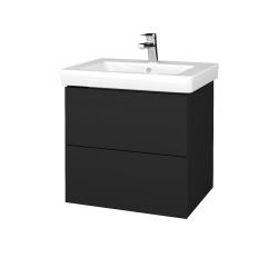 Dreja - Kúpeľňová skriňa VARIANTE SZZ2 60 - L03 Antracit vysoký lesk / L03 Antracit vysoký lesk (272883)