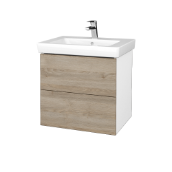 Dreja - Kúpeľňová skriňa VARIANTE SZZ2 60 - N01 Bílá lesk / D17 Colorado (273040)