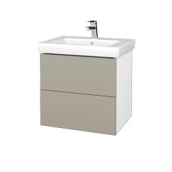Dreja - Kúpeľňová skriňa VARIANTE SZZ2 60 - N01 Bílá lesk / M05 Béžová mat (273064)