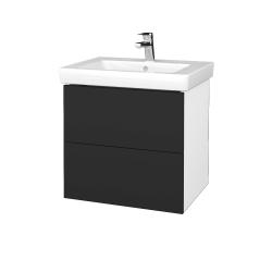 Dreja - Kúpeľňová skriňa VARIANTE SZZ2 60 - N01 Bílá lesk / N03 Graphite (273101)