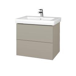 Dreja - Kúpeľňová skrinka VARIANTE SZZ2 65 - L04 Béžová vysoký lesk / L04 Béžová vysoký lesk (273361)