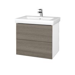 Dreja - Kúpeľňová skrinka VARIANTE SZZ2 65 - N01 Bílá lesk / D03 Cafe (273422)