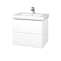Dreja - Kúpeľňová skrinka VARIANTE SZZ2 65 - N01 Bílá lesk / L01 Bílá vysoký lesk (273613)