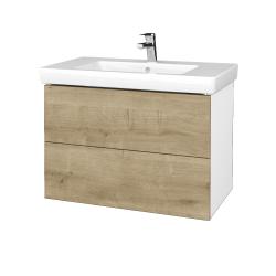 Dreja - Kúpeľňová skriňa VARIANTE SZZ2 80 - N01 Bílá lesk / D09 Arlington (273941)