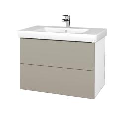 Dreja - Kúpeľňová skriňa VARIANTE SZZ2 80 - N01 Bílá lesk / M05 Béžová mat (274009)