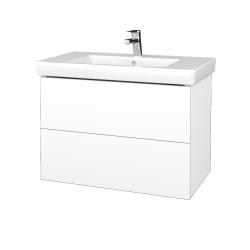 Dreja - Kúpeľňová skriňa VARIANTE SZZ2 80 - N01 Bílá lesk / L01 Bílá vysoký lesk (274085)