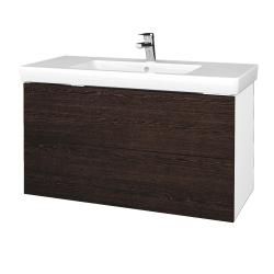 Dreja - Kúpeľňová skriňa VARIANTE SZZ2 100 - N01 Bílá lesk / D08 Wenge (274405)
