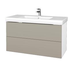 Dreja - Kúpeľňová skriňa VARIANTE SZZ2 100 - N01 Bílá lesk / L04 Béžová vysoký lesk (274504)