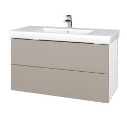 Dreja - Kúpeľňová skriňa VARIANTE SZZ2 100 - N01 Bílá lesk / N07 Stone (274535)