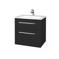 Dreja - Kúpeľňová skrinka PROJECT SZZ2 60 - N03 Graphite / Úchytka T04 / N03 Graphite (328368E)