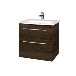 Dreja - Kúpeľňová skrinka PROJECT SZZ2 60 - D21 TOBACCO / Úchytka T02 / D21 Tobacco (328634B)