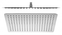 SAPHO - SLIM hlavová sprcha, obdĺžnik, 400x2x250mm, nerez (MS581)