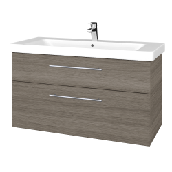 Dreja - Kúpeľňová skrinka Q MAX SZZ2 105 - D03 Cafe / Úchytka T02 / D03 Cafe (331665B)