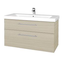 Dreja - Kúpeľňová skrinka Q MAX SZZ2 105 - D04 Dub / Úchytka T02 / D04 Dub (331672B)
