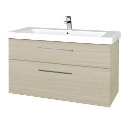 Dreja - Kúpeľňová skrinka Q MAX SZZ2 105 - D04 Dub / Úchytka T04 / D04 Dub (331672E)