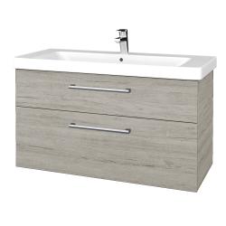 Dreja - Kúpeľňová skrinka Q MAX SZZ2 105 - D05 Oregon / Úchytka T03 / D05 Oregon (331689C)