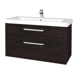 Dreja - Kúpeľňová skrinka Q MAX SZZ2 105 - D08 Wenge / Úchytka T01 / D08 Wenge (331702A)