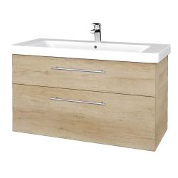 Dreja - Kúpeľňová skrinka Q MAX SZZ2 105 - D15 Nebraska / Úchytka T02 / D15 Nebraska (331733B)