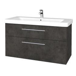 Dreja - Kúpeľňová skrinka Q MAX SZZ2 105 - D16  Beton tmavý / Úchytka T02 / D16 Beton tmavý (331740B)