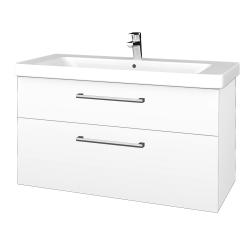Dreja - Kúpeľňová skrinka Q MAX SZZ2 105 - M01 Bílá mat / Úchytka T03 / M01 Bílá mat (331764C)
