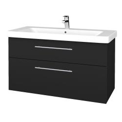 Dreja - Kúpeľňová skrinka Q MAX SZZ2 105 - L03 Antracit vysoký lesk / Úchytka T02 / L03 Antracit vysoký lesk (331795B)