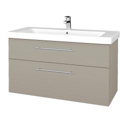 Dreja - Kúpeľňová skrinka Q MAX SZZ2 105 - L04 Béžová vysoký lesk / Úchytka T02 / L04 Béžová vysoký lesk (331801B)