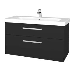 Dreja - Kúpeľňová skrinka Q MAX SZZ2 105 - N03 Graphite / Úchytka T01 / N03 Graphite (331818A)