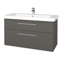 Dreja - Kúpeľňová skrinka Q MAX SZZ2 105 - N06 Lava / Úchytka T02 / N06 Lava (331825B)