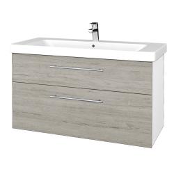 Dreja - Kúpeľňová skrinka Q MAX SZZ2 105 - N01 Bílá lesk / Úchytka T02 / D05 Oregon (331887B)
