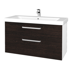 Dreja - Kúpeľňová skrinka Q MAX SZZ2 105 - N01 Bílá lesk / Úchytka T01 / D08 Wenge (331900A)