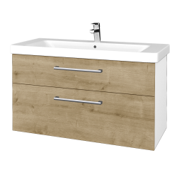 Dreja - Kúpeľňová skrinka Q MAX SZZ2 105 - N01 Bílá lesk / Úchytka T03 / D09 Arlington (331917C)