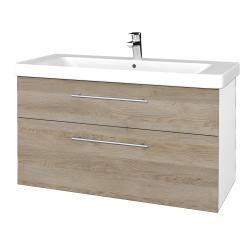 Dreja - Kúpeľňová skrinka Q MAX SZZ2 105 - N01 Bílá lesk / Úchytka T02 / D17 Colorado (331955B)