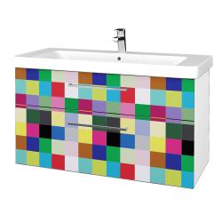 Dreja - Kúpeľňová skrinka Q MAX SZZ2 105 - N01 Bílá lesk / Úchytka T04 / IND Individual (331986E)