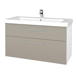 Dreja - Kúpeľňová skrinka Q MAX SZZ2 105 - N01 Bílá lesk / Úchytka T02 / L04 Béžová vysoký lesk (332006B)