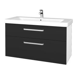 Dreja - Kúpeľňová skrinka Q MAX SZZ2 105 - N01 Bílá lesk / Úchytka T01 / N03 Graphite (332013A)