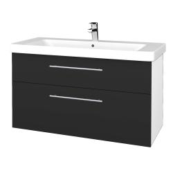Dreja - Kúpeľňová skrinka Q MAX SZZ2 105 - N01 Bílá lesk / Úchytka T02 / N03 Graphite (332013B)