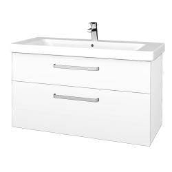 Dreja - Kúpeľňová skrinka Q MAX SZZ2 105 - N01 Bílá lesk / Úchytka T01 / L01 Bílá vysoký lesk (332051A)