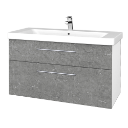 Dreja - Kúpeľňová skrinka Q MAX SZZ2 105 - N01 Bílá lesk / Úchytka T02 / D20 Galaxy (332099B)