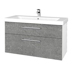 Dreja - Kúpeľňová skrinka Q MAX SZZ2 105 - N01 Bílá lesk / Úchytka T03 / D20 Galaxy (332099C)