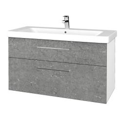 Dreja - Kúpeľňová skrinka Q MAX SZZ2 105 - N01 Bílá lesk / Úchytka T04 / D20 Galaxy (332099E)